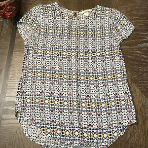 H&M Patterned Short Sleeve Blouse